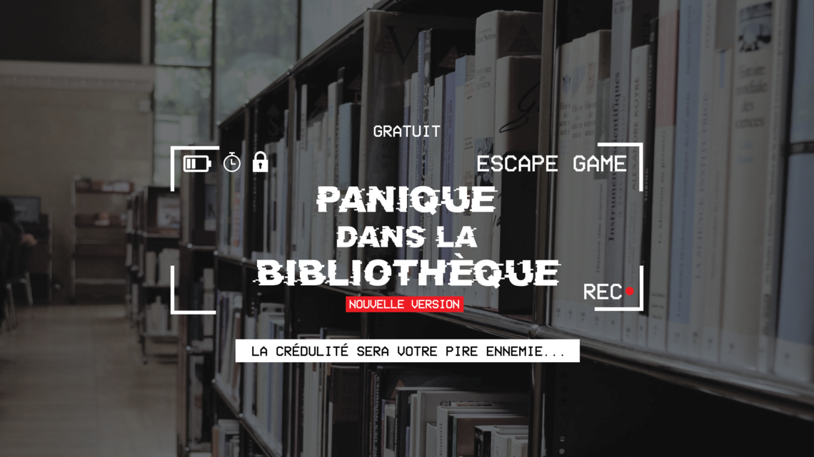 Xl bandeau escape game panique dans la bibliotheque grands groupes