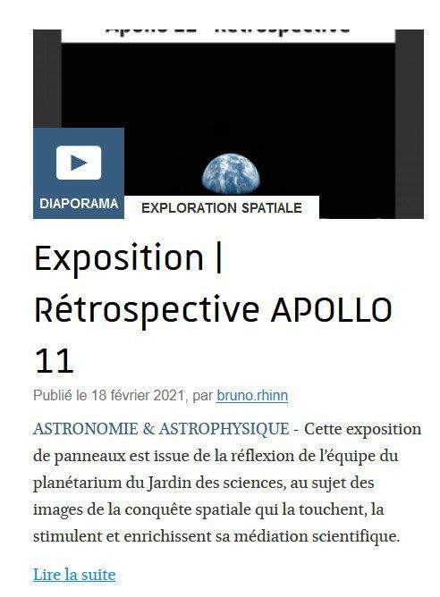 Exposition Rétrospective Apollo 11